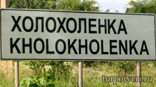 Лавка древностей в деревне Холохоленка