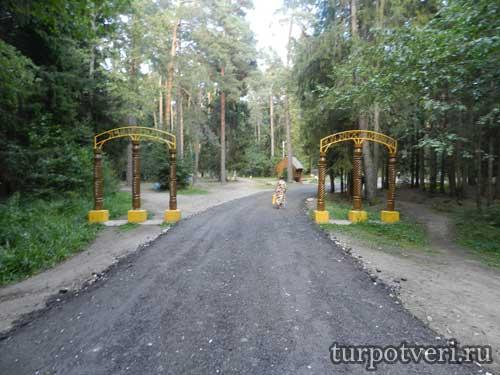 Деревянные ворота в Конаковский бор