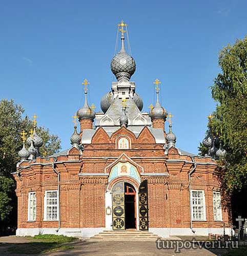 Кладбищенская церковь Спаса Нерукотворного образа в Бежецке