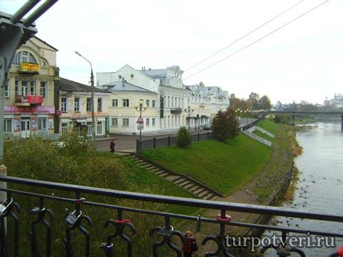 Вид с моста в Торжке