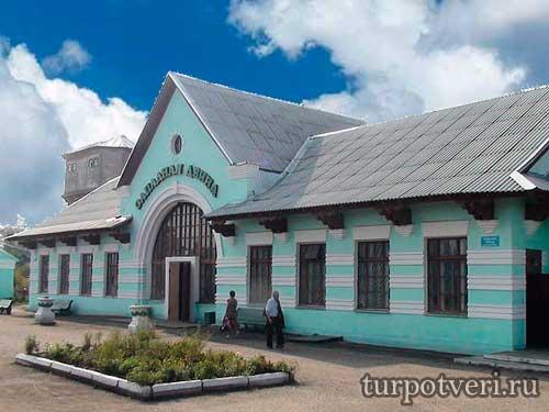 Железнодорожный вокзал в Западной Двине