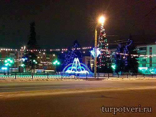 Комсомольская площадь-Новый год