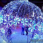 Новогодний шар в Твери на Трехсвятской