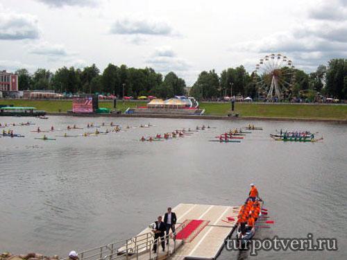 Акватория реки Волга в Твери