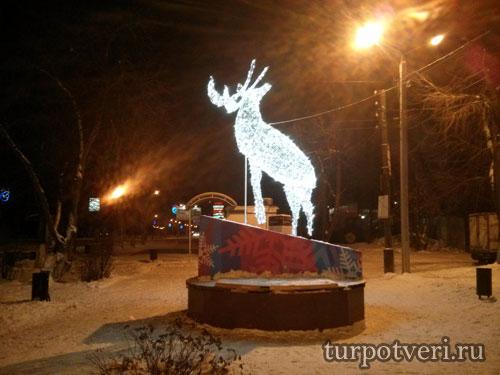 Новогодний олень в Твери
