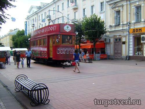 Ретро трамвай в Твери