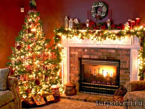 Рождественская гостиная в саду ТГУ
