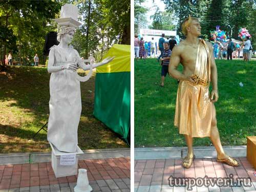 В Твери живые скульптуры