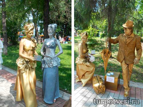 Живые скульптуры в Твери