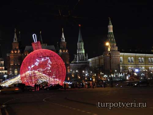 Новый год в Москве на Красной площади