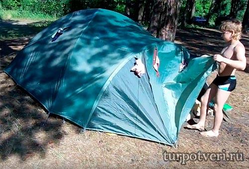 Отдых с детьми на природе в палатках