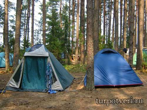 В поход с палатками