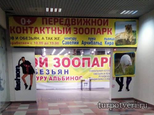 """Зоопарк """"Парад обезьян"""" в Твери в ТРЦ Рубин"""